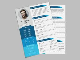 Modern Graphic Resume Template Free Modern Psd Resume Template By Andy Khan Dribbble Dribbble