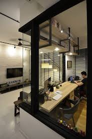 Semi Industrial Manhattan Living Style Was Adopted For The