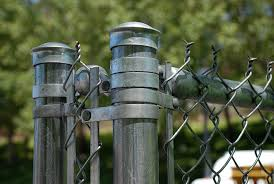 chain link fence terminal post. Exellent Post Orem  UVSC Sparks Automotive Building Terminal Post Closeup Inside Chain Link Fence