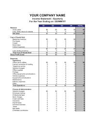 Profit Loss Statement For Self Employed Income Statement Quarterly Template Word Pdf By