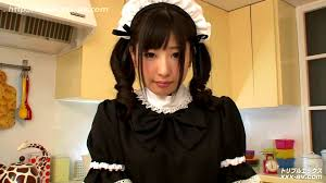 Amazing jap av model Nakano Arisa in schoolgirl and maid outfits.