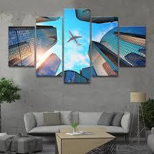 on urban designs canvas wall art with urban flight multi panel canvas wall art elephantstock