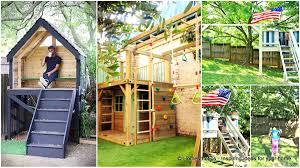 playhouse furniture ideas. 16 creative kids wooden playhouses designs for your yard playhouse furniture ideas v