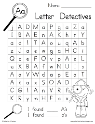 Az Worksheets For Kindergarten Trace And Print Letters A To Z With ...