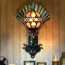 solar outdoor lights post cap lamp in stained glass light outside base parts