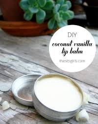 this homemade coconut vanilla lip balm recipe is natural and easy to make so you