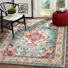 safavieh monaco vintage boho medallion blue pink area rug 12 x 18