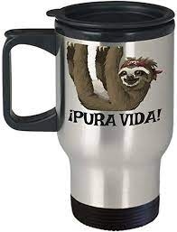 You'll receive a hands education about. Amazon Com Costa Rica Travel Mug Pura Vida 14 Oz Stainless Steel Insulated Coffee Cup Sloth Travel Mug Sloth Gifts Costa Rica Souvenirs Kitchen Dining