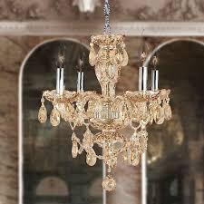 clearance provence venetian 4 light amber crystal chandelier d17 xh18 mini