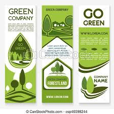 Green Layouts Eco Business Green Company Banner Template