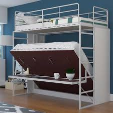 Jessie Twin Over Full Landscape Bunk Bed w/ Desk, Red