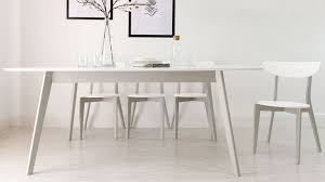 modern white dining table. contemporary white and grey dining set modern table o