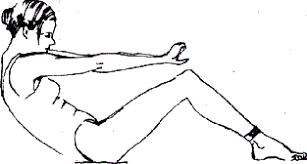 Мышцы брюшного пресса Реферат страница  ядьте на пол согните колени положите голову на грудь Вытяните руки вперед или скрестите их на груди Втяните нижнюю часть живота и округлите спину как