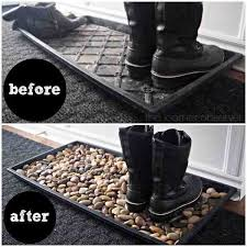 Decorative Boot Tray Fascinating 32 Minute Boot Tray Fox With River Rocks Decorating Pinterest