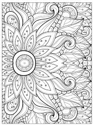 Simple Mandala Flower Coloring Pages Garden For Adults Printable Pdf