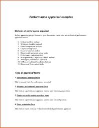 Performance Evaluation Letter Format Co Appraisal Doc Best Of