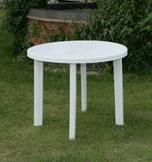 plastic patio furniture round table