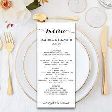 Formal Dinner Menu Template Wedding Menu Wedding Menu Template Menu Cards Menu Printable 1
