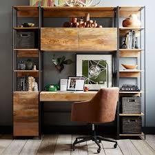 Office desk shelving Floating West Elm Industrial Modular 49