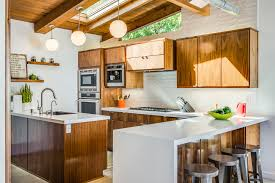 mid century kitchen with modern range hoods and vents kitchen midcentury and clerestory window