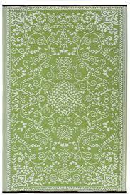 amazoncom  fab habitat murano recycled plastic rug lime green