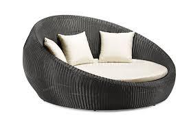 Round Outdoor Bed White Modern Round Shape Outdoor Bed