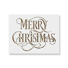 Amazon Com Merry Christmas Stencil Perfect Stencil For Painting