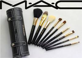 mac make up brush set includes 9 pieces brush mirror with case free registered pose