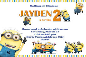 Minions Party Moms Kiddie Party Link Minions Party Invites