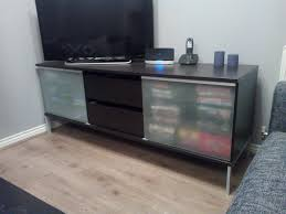 ikea tv stand sliding glass doors with lots of storage