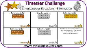 simultaneous equations by elimination
