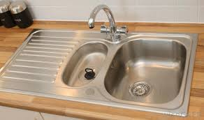 a sink made of stainless steel is often easier to clean than other types of sinks