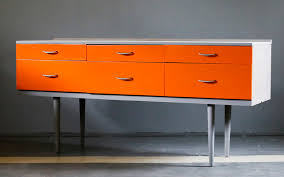 retro look furniture. long sideboard square shape fro wood orange from retro furniture to 1960s style look