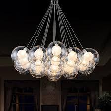 glass ball chandelier modern led find inside plan 7