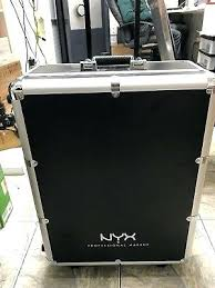x large makeup artist train case with lights nyx extra black silver pro rolling studio