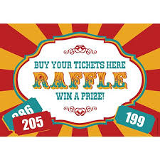 raffle sign fundraising raffle sign a3 party packs