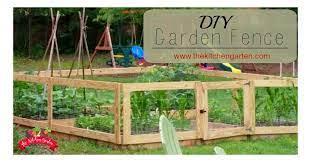 build a diy raised bed garden fence