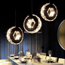 simple crystal ball pendant light. Led Crystal Chandelier Bar Lamp Round Dining Room Lights Table Hanging Line Simple Ring Circle Light Ball Pendant A