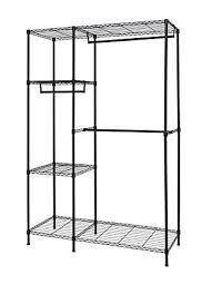 Heavy Duty Coat Rack With Shelf Amazon Finnhomy Heavy Duty Wire Shelving Garment Rack for 17
