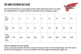 Red Wing Boot Size Chart Inspirational Sizing Red Wing Boots