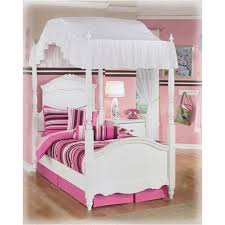 Full Size Canopy Bed Furniture : Sourcelysis - Make A Ruffle Full ...