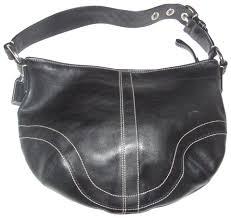 coach hobo shoulder coach s soho line chrome hardware excellent vintage medium size hobo bag image
