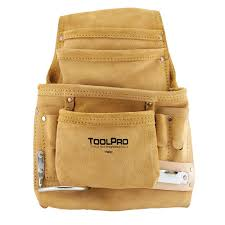 10 pocket suede leather nail and tool pouch