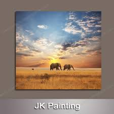 large outdoor wall art of african paririe scenery canvas oil painting repro from digital hd photo whole canvas wall art
