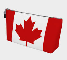 flag of canada red and white red maple leaf makeup bag thumbnail 2
