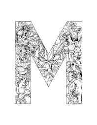 Small Picture Detailed alphabet coloring page These are cool Printables
