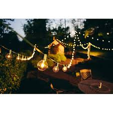 brightech ambience outdoor string lights with 25 g40 clear globe bulbs commercial quality ul listed indoor and outdoor use natural warm white light