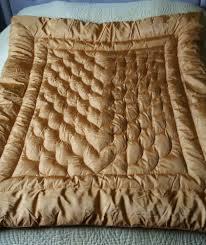 Antique 1930s Padded Eiderdown/ Quilt. Deco Gold Orange Satin in ... & Antique 1930s Padded Eiderdown/ Quilt. Deco Gold Orange Satin in Antiques,  Fabric/ Adamdwight.com
