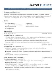 Dialysis Nurse Resume Sample Best Dialysis Nurse Resumes Resumehelp