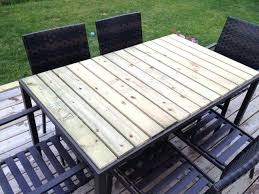 patio table glass shattered patio table using fence boards great solution for glass tops that brake patio table glass shattered